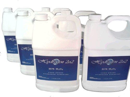 (6) Gallons 35% Certified Food Grade Hydrogen Peroxide