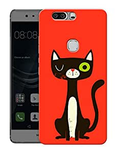 "Meow Kitty Cat Printed Designer Mobile Back Cover For ""Huawei Honor V8"" (3D, Matte, Premium Quality Snap On Case)"