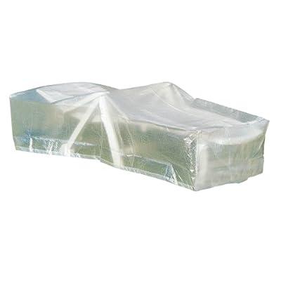 Greemotion Schutzhülle für Liege wasserabweisen mit Ösen, Transparent, 200x75x40cm von greemotion auf Gartenmöbel von Du und Dein Garten