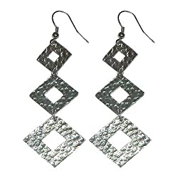 Winter Diamond Metal Duster Earrings (Metal Element)