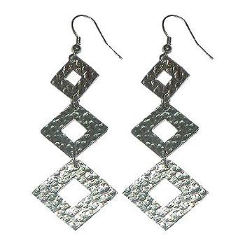 Winter Diamond Metal Duster Earrings (Metal Element)