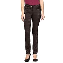 Species Women's Slim Fit Jeans (S-738_Black_Medium)