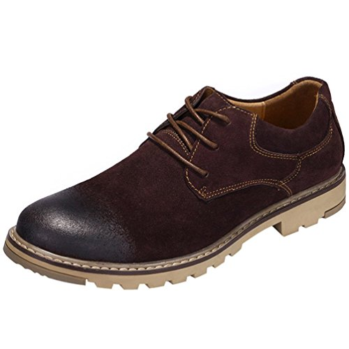 Freerun Men's 2016 New Style Lace-up Utility Work Suede Leather Oxfords (7.5 B(M)US,coffee) (Running Spike Plugs compare prices)