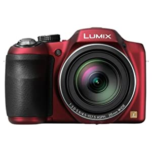 Panasonic Lumix LZ30 16.1MP Digital Camera with 35x Optical Image Stabilized Zoom and 3-Inch LCD (Red)
