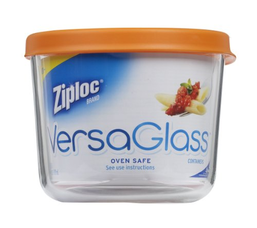 Ziploc Versaglass Container, Tall Round 25-Ounce
