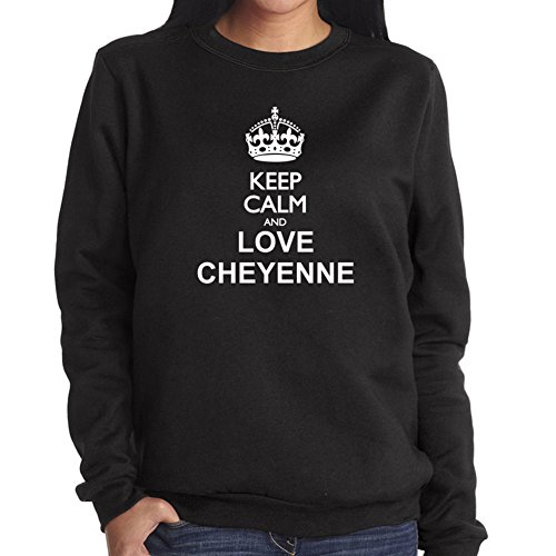 Felpa da Donna Keep calm and love Cheyenne
