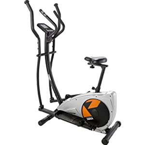Serene York Aspire Magnetic 2 in 1 Cross Trainer and Exercise Bike with accompanying Sports Pulse Watch