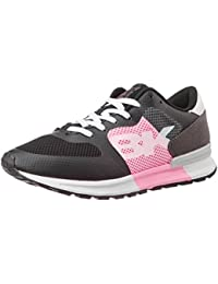 British Knights Women's Impact Black And Pink Grey Mesh Sneakers