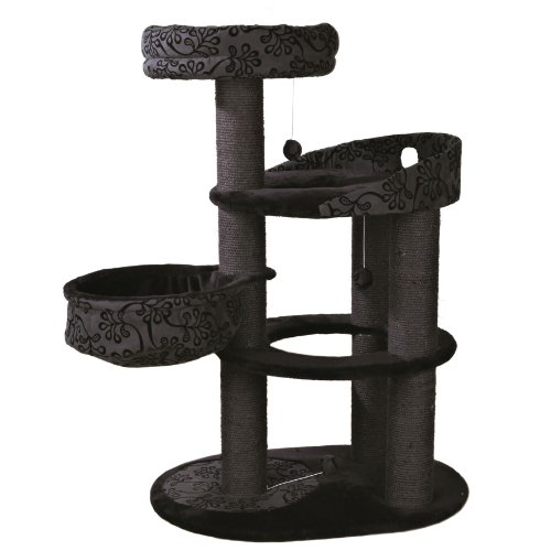 Produktabbildung von Trixie 43467 Kratzbaum Filippo, 114 cm, schwarz/anthrazit