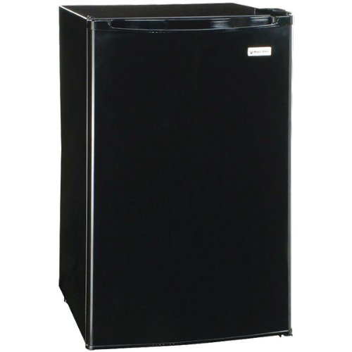 Magic Chef 4.4 Cu Ft Refrigerator Black, Push-button Defrost MCBR445B2