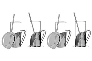 Premier Housewares Aroma Ensemble pour Irish coffee Lot de 4 mugs/4 cuillères/4 dessous-de-verre 12 pièces