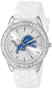 Game Time Ladies NFL-FRO-DET Frost NFL Series Detroit Lions 3-Hand Analog Watch by Game Time