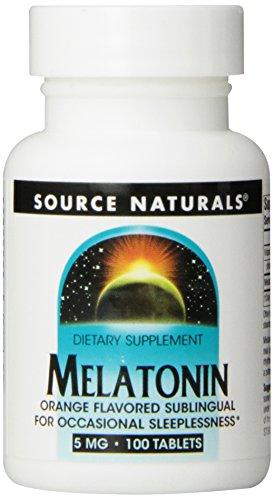 Source Naturals Melatonin 5Mg, Orange, 100 Tablets