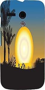 Snoogg Summer Illustration Designer Protective Back Case Cover For Motorola G...