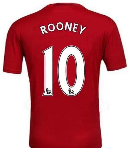 Rooney #10 Manchester United 2016 Soccer Jersey & Short Home Kit (Adult- Small) (Shorts Manchester United compare prices)