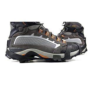 雪対策 靴底 滑り止め スパイク 簡単装着 路面凍結 転倒防止 予備ピン2個付き (M 23.0-25.5cm)