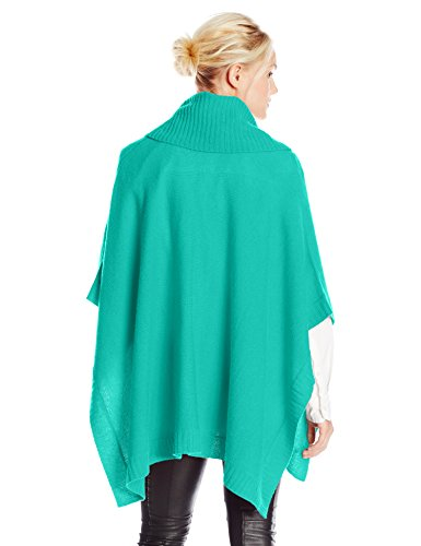 BCBGMAXAZRIA Women's Coralie Oversized Cowl Poncho, Sea Green, One Size