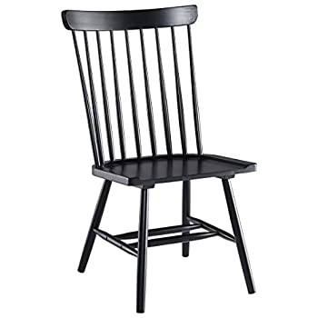 Signature Design by Ashley D408-01 Vintage Casual Dining Room Chair, Black