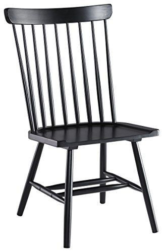 Signature Design by Ashley D408-01 Vintage Casual Dining Room Chair, Black 0