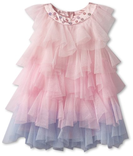 Save Price Biscotti Baby-Girls Infant Rococo Rose Netting Dress, Pink, 0-9 Months  Best Offer