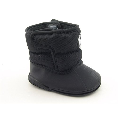 Ralph Lauren Layette Winter Games EZ Infants Baby Toddler SZ 0 Black Boots Shoes