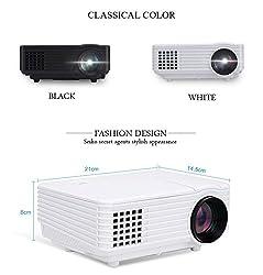 BEN Full HD LED 2000 Lumens Projector HDMI USB VGA AV. Theater Quality (White)