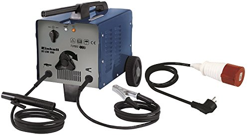 Einhell-Elektroden-Schweigert-BT-EW-200-bis-200-A-230-V-400-V-inkl-Masseklemme-Elektrodenhalter-Ventilatorkhlung-fahrbar-Thermowchter-mit-Kontrollleuchte-Adapterkabel
