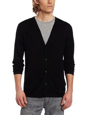 CK Sportswear Men's Slim Fit Silk Cotton Cardigan Sweater 灰色 $62.4
