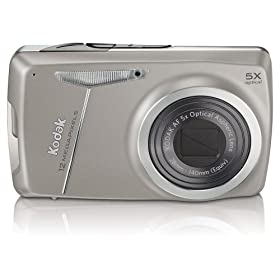 Kodak EasyShare M550 12MP Digital Camera with 5x Wide Angle Optical Zoom and 2.7 Inch LCD (Dark Grey)