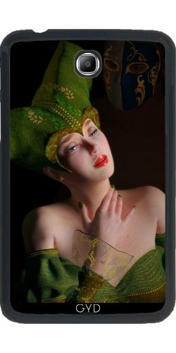 Custodia per Samsung Galaxy Tab 4 (7 pollici) - Rosa Rosa A Retroilluminazione Argento by UtArt