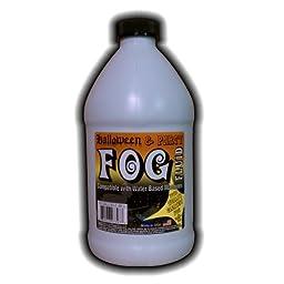 1 Half Gallon (64 Oz.) - Halloween Party & DJ Fog Juice for Water Based Fog Machines - American Made - Perfect Fog Fluid for Small 400 Watt to Higher Wattage 1500 Watt Foggers...