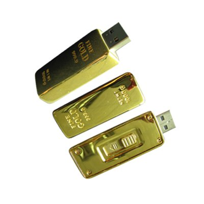 4GB Novelty USB Gold Bar Flash Drive in Black Gift Box by OEM