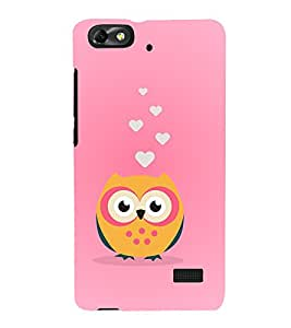 Clipart Owl 3D Hard Polycarbonate Designer Back Case Cover for Huawei Honor 4C :: Huawei G Play Mini