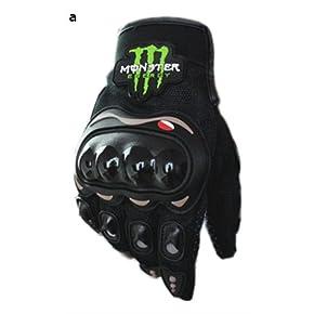 高品質 バイクグローブ Monster Energy モンスターエナジー 黒/L 並行輸入品 Dream Net Life