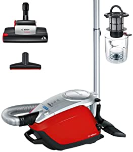 Bosch BGS5PETGB Power Animal Bagless Vacuum Cleaner, 3 Litre, 2200 Watt, Red