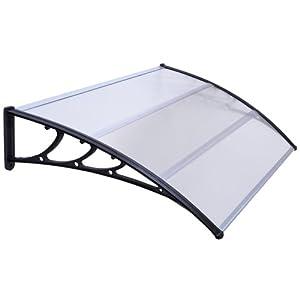 auvent de porte marquise de porte 120 x 100 cm p x la polycarbonate transparent 79