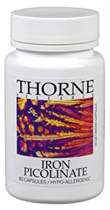 Thorne Research Iron Picolinate -- 25 mg - 60 Vegetarian Capsules