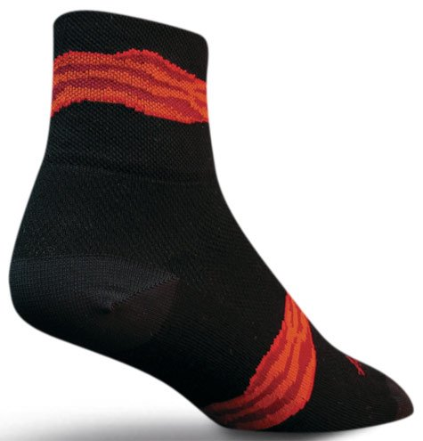 "Buy Low Price SOCKGUY Sock Guy Bacon Strip Sock 3"" Cuff Small / Medium Black (B006LG13G2)"