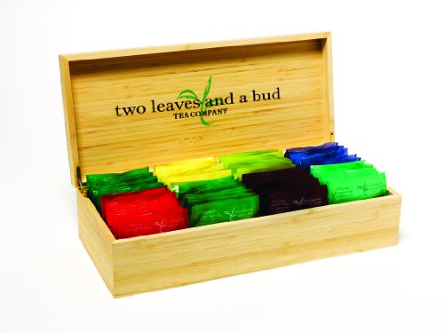 Two Leaves and a Bud Bamboo Presentation Tabletop Box