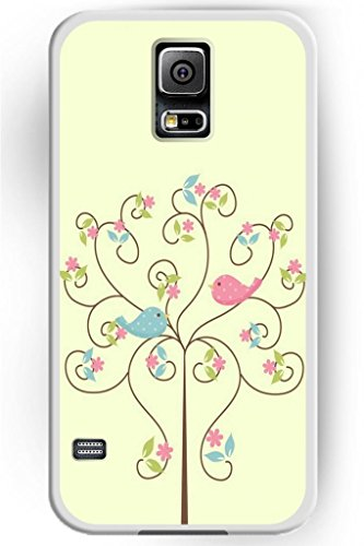 Sprawl Beautiful Vintage Design Hard Shell For Samsung Galaxy S5 Hard Plastic Back Case For Women -- Cute Tree And Birds