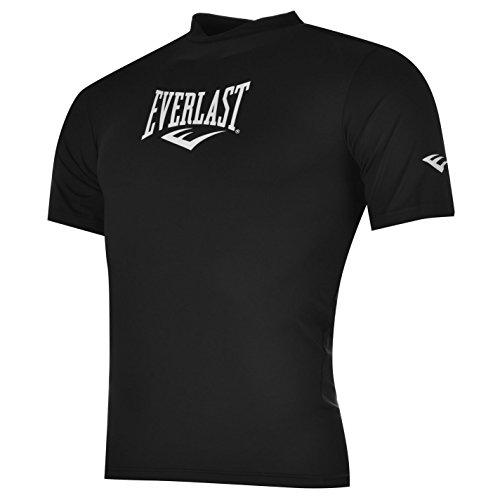 everlast-mens-short-sleeve-rashguard-crew-neck-stretch-fit-shirt-top-clothing-black-l