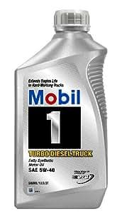Mobil 1 Turbo Diesel Truck Motor Oil 5W-40