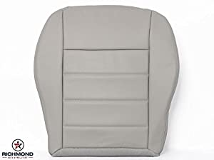 2007 Dodge Charger R/T, SE, SXT - Driver Bottom Replacement Ultra Leather Seat Cover: Light Gray