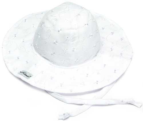 Flap Happy Floppy Hat, White Eyelet Small