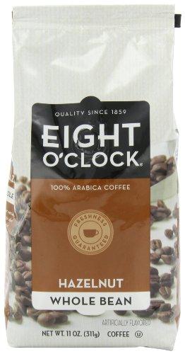 Eight O'Clock Coffee, Hazelnut Whole Bean, 11-Ounce Bags (Pack Of 4)