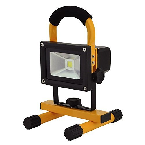 Ledwholesalers 12-Watt Rechargeable Portable Led Work Light With 12 And 120 Volt Charger, 3851Wh
