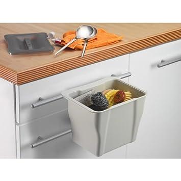 wesco kitchen box hellgrau mit deckel in grau transparent multifunktions abfallbeh lter bio. Black Bedroom Furniture Sets. Home Design Ideas