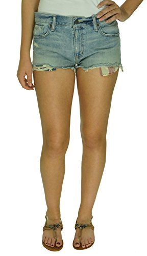 Denim & Supply Ralph Lauren Womens Distressed Denim Cutoff Shorts Blue 29 Denim Cut Off Shorts