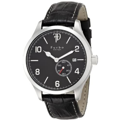 [フルボデザイン]Furbo design 腕時計 F5023 黒革 黒文字盤 自動巻き メンズ F5023SBKBK メンズ