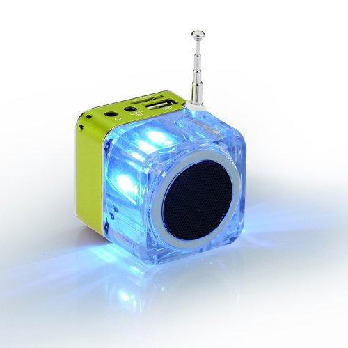 Generic Mini Card Small Stereo Radio Subwoofer Speaker Tt028 U Disk Speakers,Computer Speakers,Memory Card Speaker Green Color